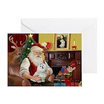 Santa's Maltese Greeting Card
