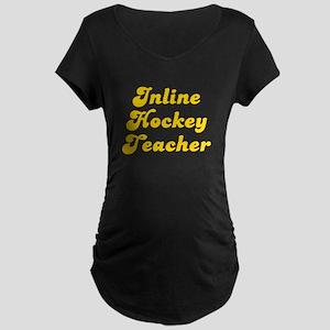 Retro Inline Hock.. (Gold) Maternity Dark T-Shirt