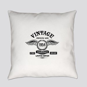 Vintage Perfectly Aged 1958 Everyday Pillow