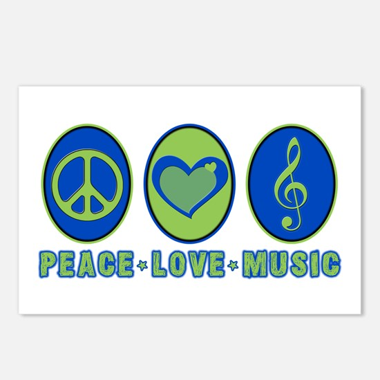 PEACE - LOVE - MUSIC Postcards (Package of 8)