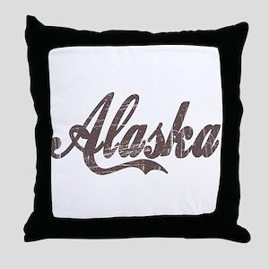 Vintage Alaska Throw Pillow