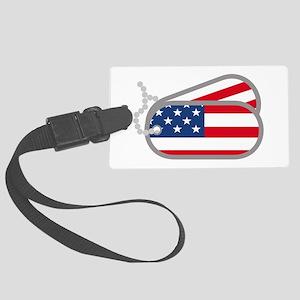 American Flag Dog Tags Luggage Tag