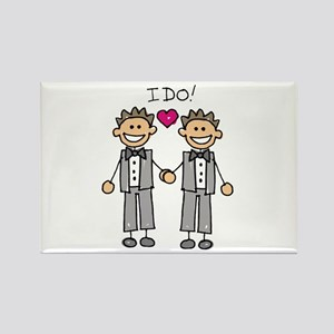 Gay Marriage - I Do Rectangle Magnet