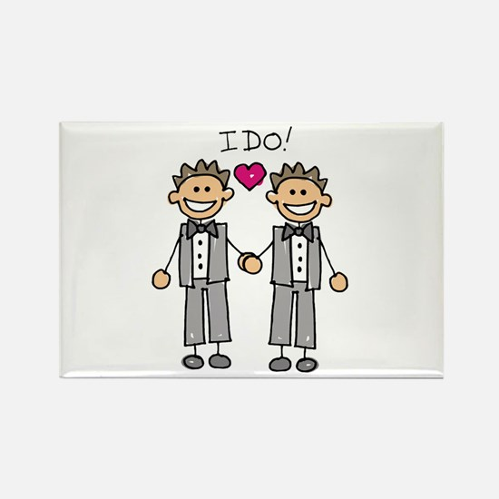 Gay Marriage - I Do Rectangle Magnet (10 pack)
