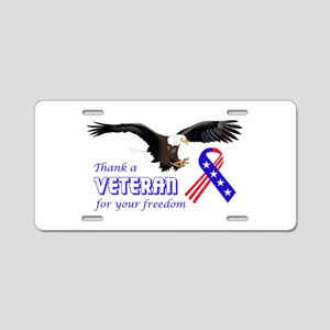 Thank A Veteran Aluminum License Plate