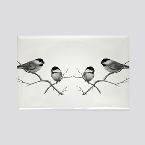 chickadee song bird Magnets