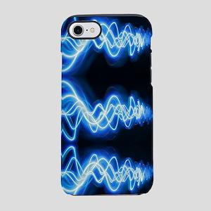 Soundwave black blue waves iPhone 8/7 Tough Case