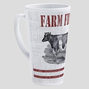 Country Chic Cow Farmhouse 17 oz Latte Mug