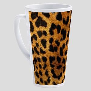 wild safari leopard print 17 oz Latte Mug