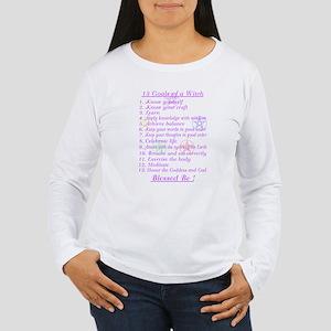 13 Goals of a Witch Women's Long Sleeve T-Shirt