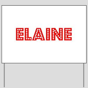 Retro Elaine (Red) Yard Sign
