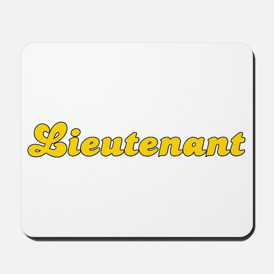 Retro Lieutenant (Gold) Mousepad