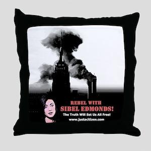 Rebel With Sibel! Throw Pillow
