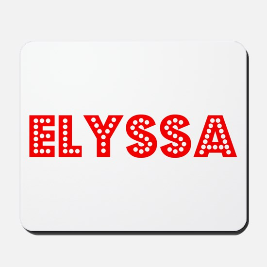 Retro Elyssa (Red) Mousepad