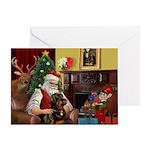 Santa's Rottweiler Greeting Card