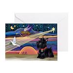 XmasStar/Scottie (#6) Greeting Card