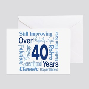 Over 40, 40th Birthday Greeting Cards (Pk of 20)