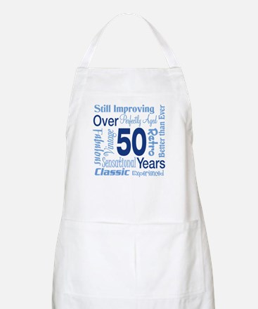 Over 50 years, 50th Birthday BBQ Apron
