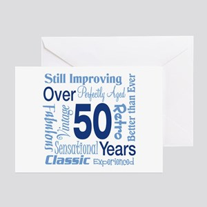 Over 50 years, 50th Birthday Greeting Cards (Pk of