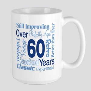 Over 60 years, 60th Birthday Large Mug