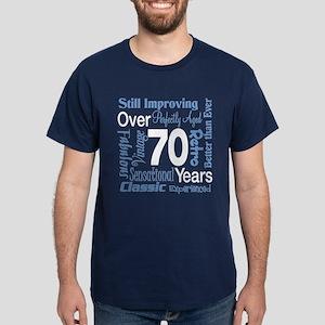 Over 70 years, 70th Birthday Dark T-Shirt
