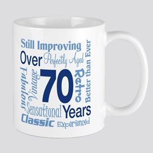 Over 70 years, 70th Birthday Mug