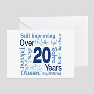 Over 20, 20th Birthday Greeting Cards (Pk of 20)