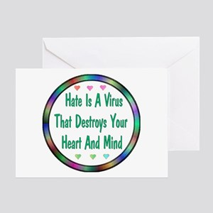 Hate Is A Virus Greeting Card