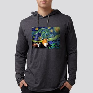Corgi Starry Starry Night Long Sleeve T-Shirt