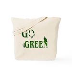 Go Green Birds Reusable Tote Bag