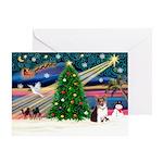 Xmas Magic & Corgi Greeting Card
