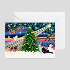 XmasMagic/Corgi (12BW) Greeting Cards (Pk of 10)