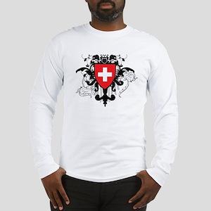 Stylish Switzerland Long Sleeve T-Shirt