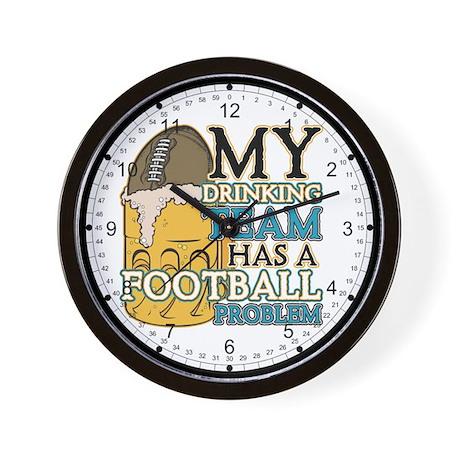 Football Drinking Team Wall Clock