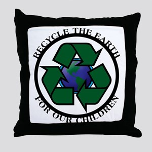 Recycle the Earth Throw Pillow