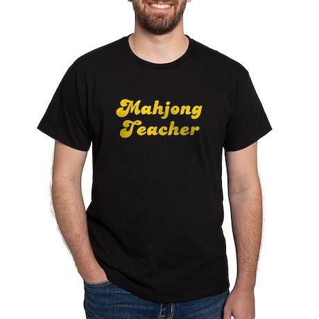 Retro Mahjong Tea.. (Gold) Dark T-Shirt