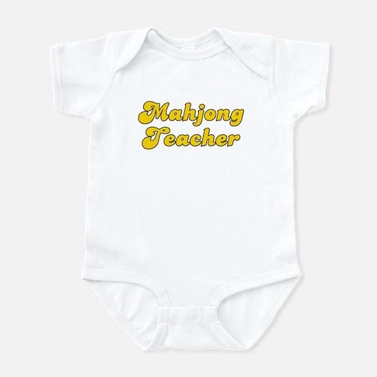 Retro Mahjong Tea.. (Gold) Infant Bodysuit
