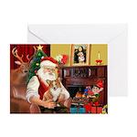 Santa's Corgi (#3P) Greeting Card