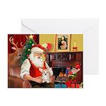 Santa's Corgi Puppy Greeting Cards (Pk of 10)