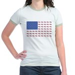 American Flag made up of Snowmo Jr. Ringer T-Shirt