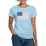 American Flag Made of Snowmobiles Women's Light T-