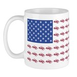 American Flag made up of Snowmob 11 oz Ceramic Mug