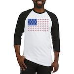 American Flag Made of Snowmobiles Baseball Jersey