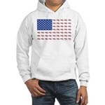 American Flag made up of Snowmob Hooded Sweatshirt