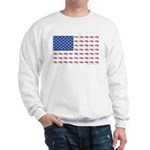 American Flag made up of Snowmobiles Sweatshirt