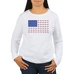 American Flag made up Women's Long Sleeve T-Shirt