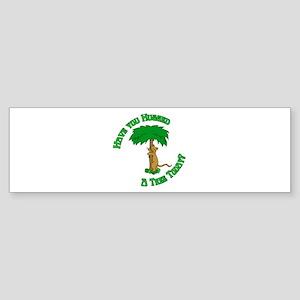 Tree Hugging Chipmunk Bumper Sticker