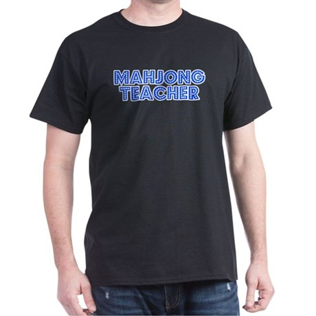 Retro Mahjong Tea.. (Blue) Dark T-Shirt