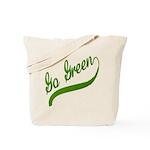 Go Green Baseball Logo Tote Bag