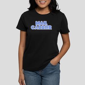 Retro Mail carrier (Blue) Women's Dark T-Shirt